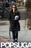 Keri Russell kept her script in her hand.