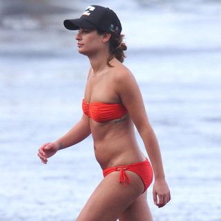 Lea Michele Wearing a Red Bikini in Hawaii | Pictures