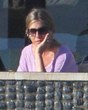 Jennifer Aniston enjoyed her view from her patio.