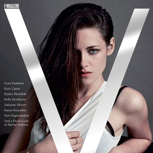 Kristen Stewart Sexy Pictures & Interview In V Magazine