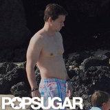 Mark Wahlberg was shirtless in Hawaii.
