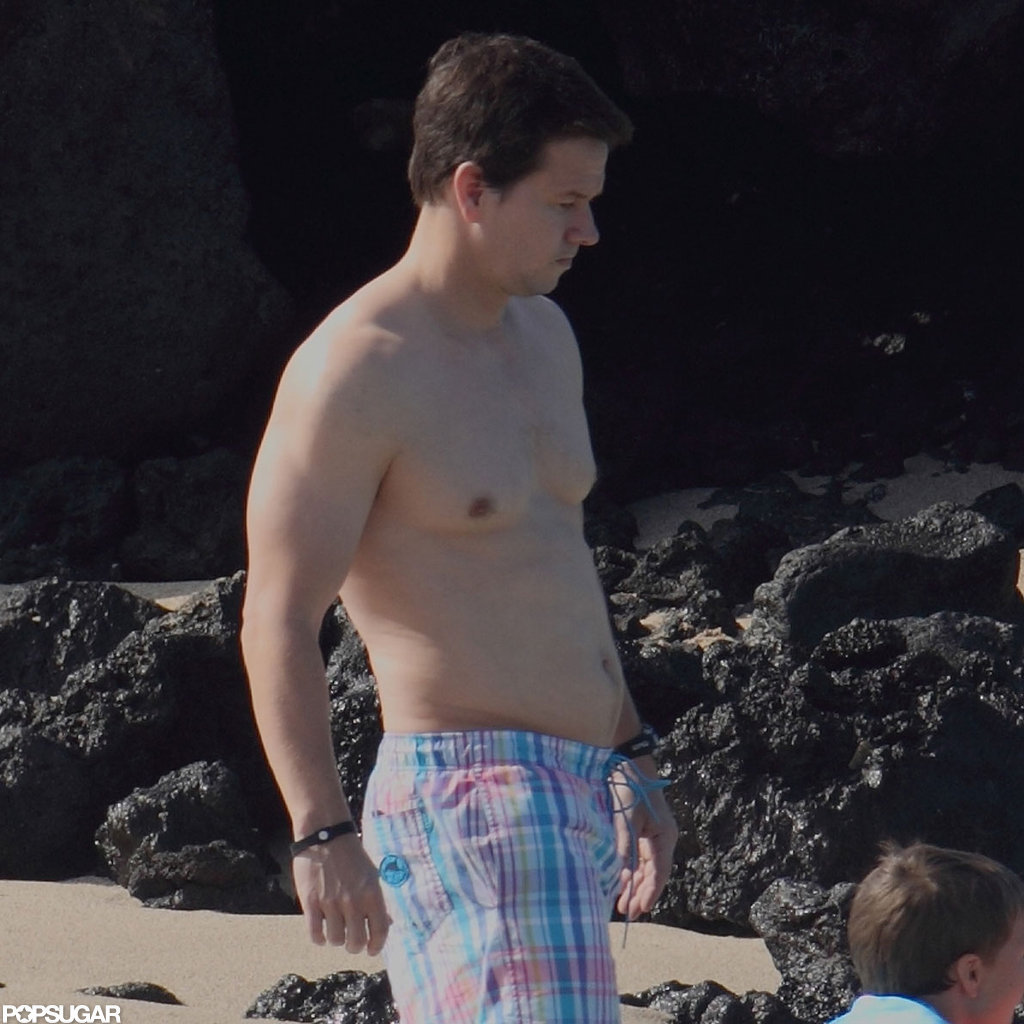 Mark Wahlberg was shirtless in Hawaii.