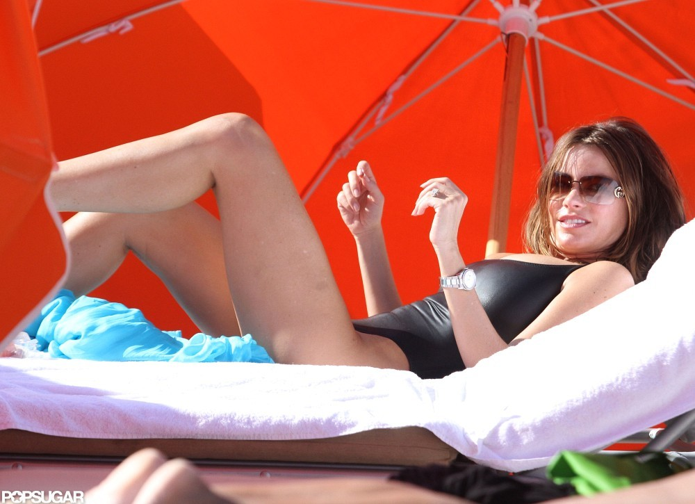 Sofia Vergara worked a black cutout swimsuit on the beach in Miami in January.