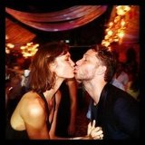 Karlie Kloss and Derek Blasberg rang in the New Year together with a kiss. Source: Twitter user DerekBlasberg
