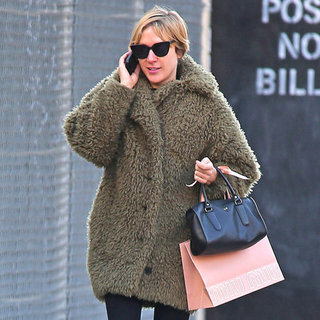 Chloe Sevigny Wearing Fur Coat