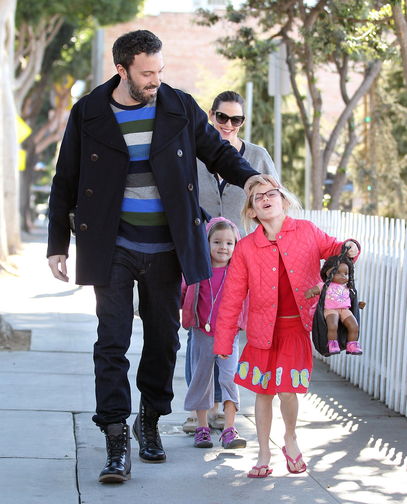 Ben Affleck played with Violet's hair.