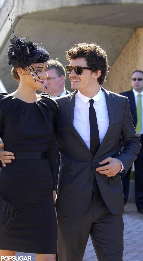 Orlando Bloom and Miranda Kerr attended the Randwick Races in Sydney in April 2008.