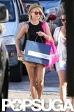 Julianne Hough purchased some goods in St. Barts.