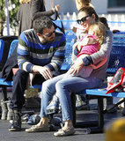 Ben Affleck and Jennifer Garner sat with Seraphina.