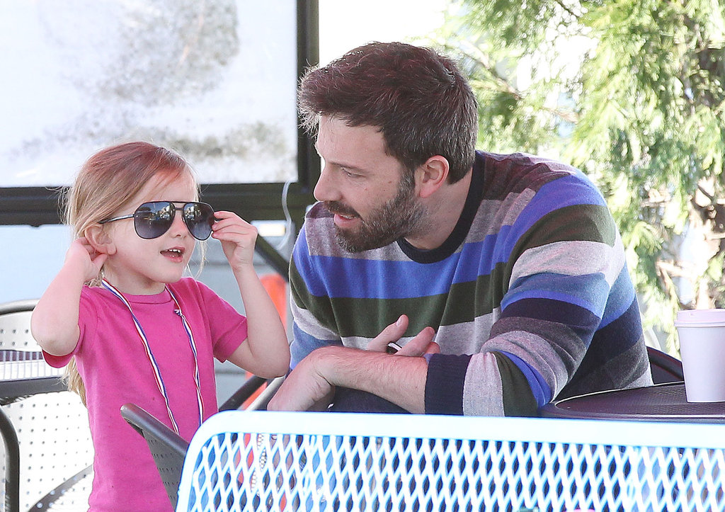 Ben Affleck let Seraphina wear his glasses.