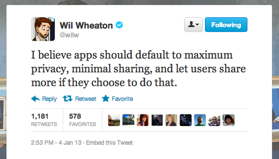 Instagram: heed Star Trek: TNG actor Wil Wheaton's advice.
