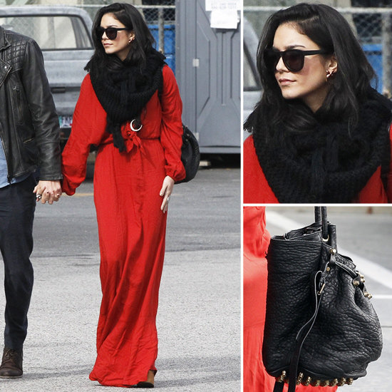 Get a lesson in warming up your maxi for Winter straight from Vanessa Hudgens.