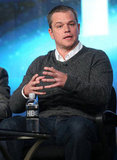 Matt Damon spoke at the HBO Winter 2013 TCA.