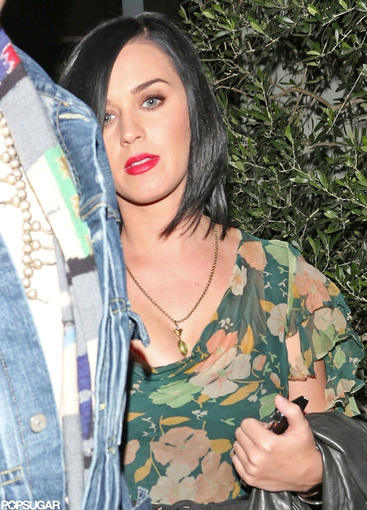 Katy Perry headed home from dinner.