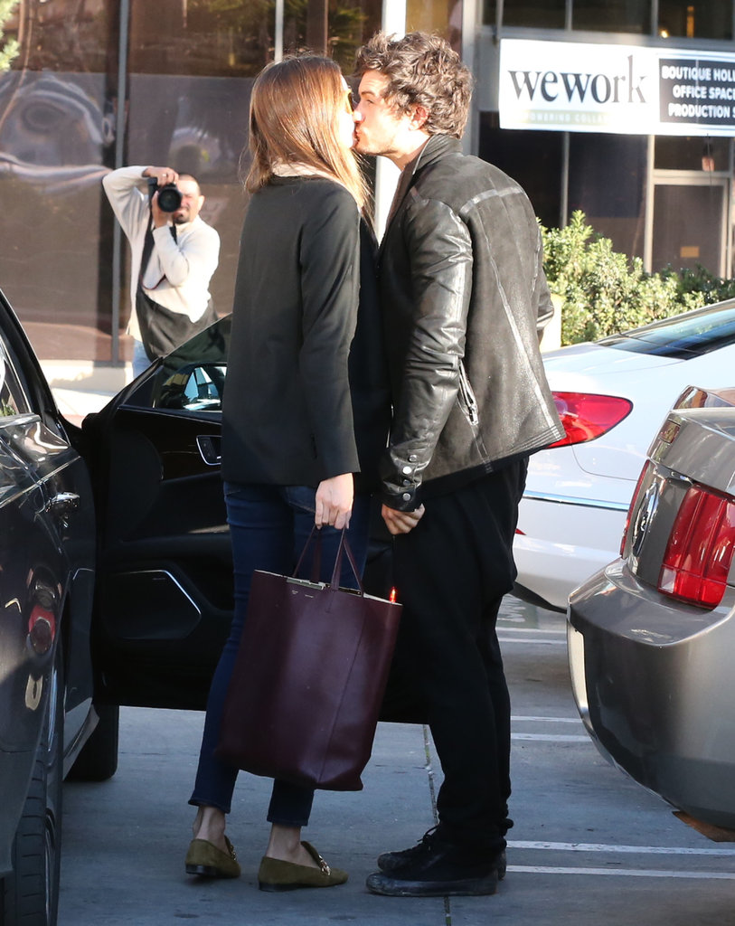 Orlando Bloom and Miranda Kerr kissed.