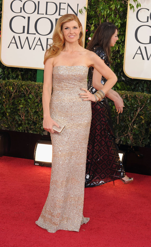 Connie Britton sparkled during the 70th Annual Golden Globe red carpet.