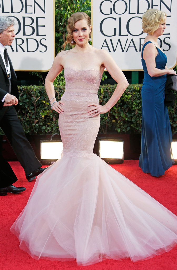 Aviana must have thought her mama, Amy Adams, looked like a princess in her petal-pink Marchesa gown.