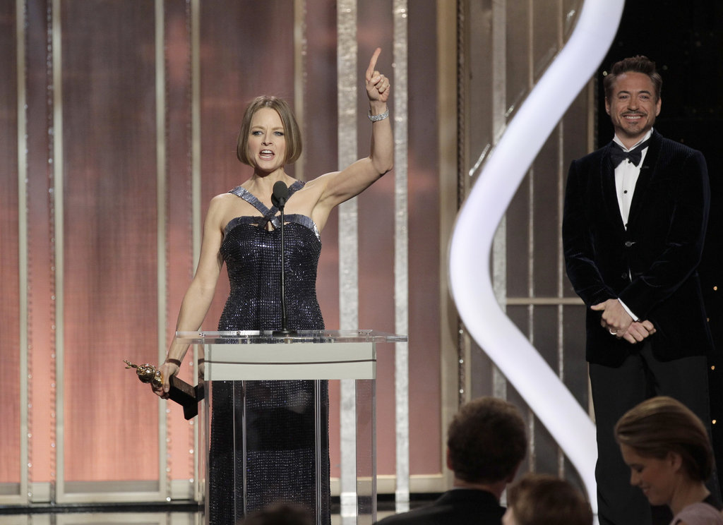 Jodie Foster gave an emotional speech while accepting her lifetime achievement award.
