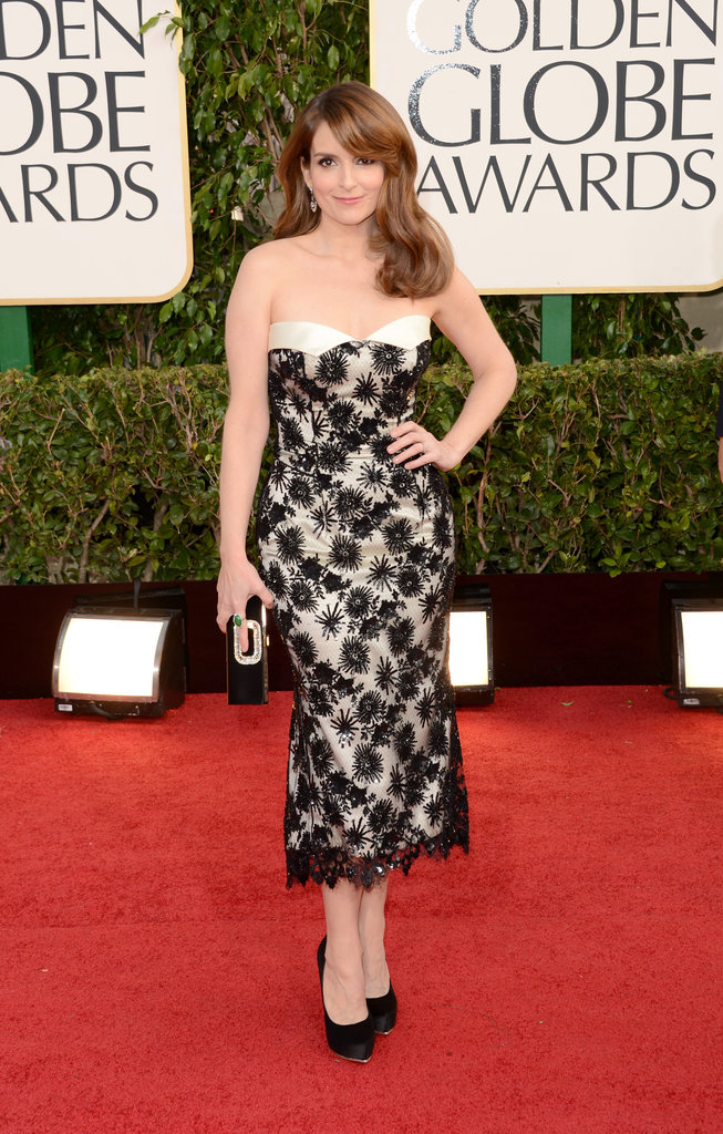 Co-host Tina Fey looked fierce before the 70th Annual Golden Globe Awards Sunday night.