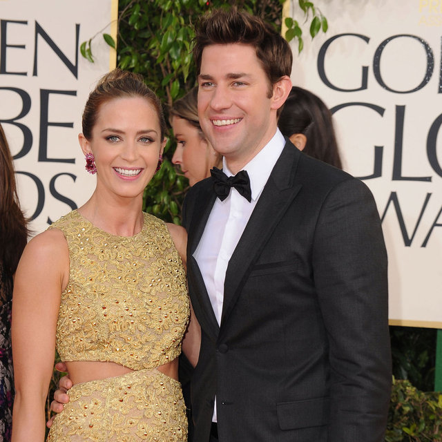Emily Blunt and John Krasinski at 2013 Golden Globes