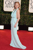 Jessica Chastain Stuns in Blue on the Golden Globes Carpet