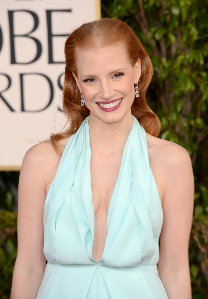 Jessica Chastain rocked the carpet in classic Calvin Klein.