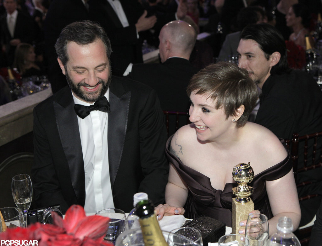 Judd Apatow and Lena Dunham shared in the excitement of Girls big night.