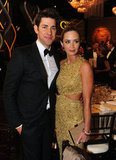 Emily Blunt and John Krasinski at the Golden Globes.