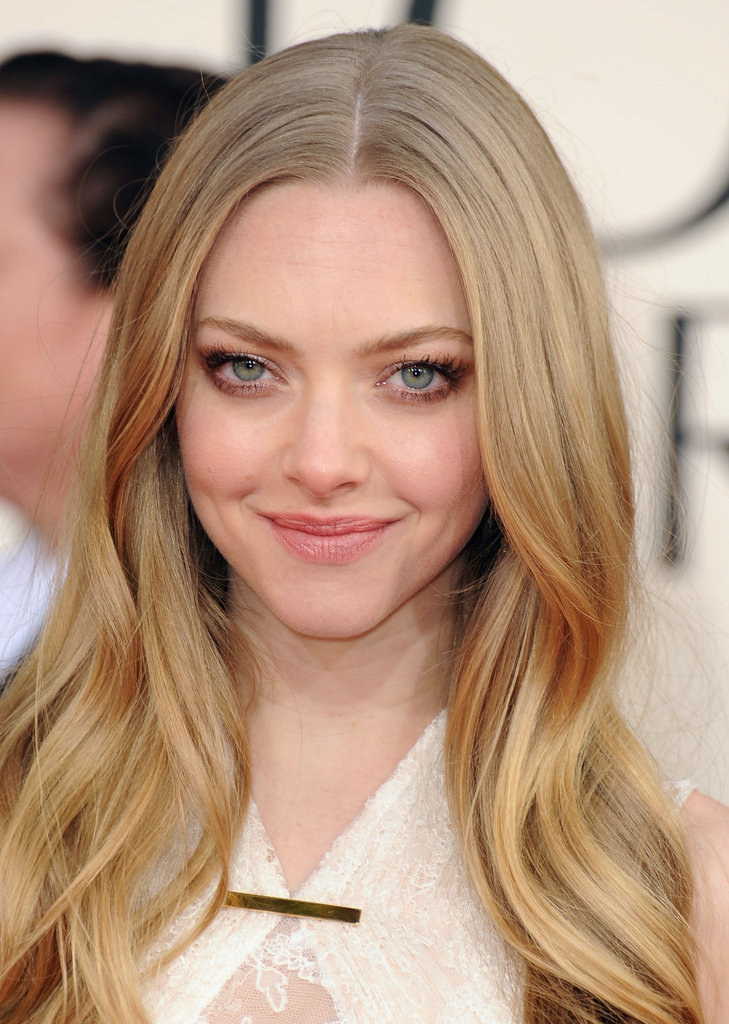 Amanda Seyfried smiled coyly at the 70th Annual Golden Globes.
