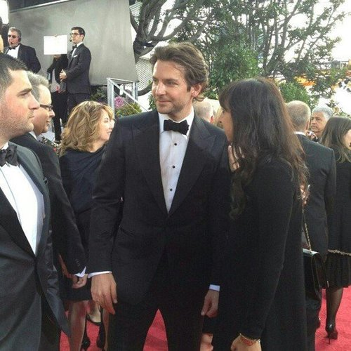Bradley Cooper looked suave in a tux on the Golden Globes red carpet. Source: Instagram user goldenglobes