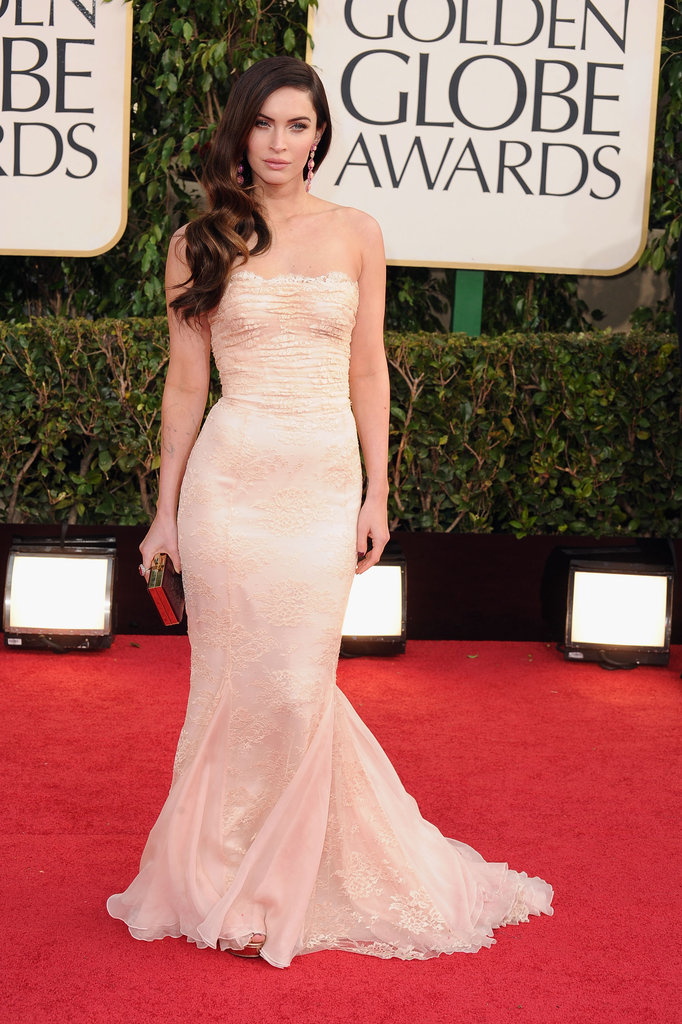 Megan Fox in Dolce & Gabbana at the Golden Globes.
