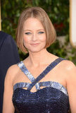 Jodie Foster pictured before her heartfelt speech at the 2013 Golden Globes.