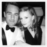 James Van Der Beek and his wife headed to the Golden Globes after party. Source: Twitter user vanderjames