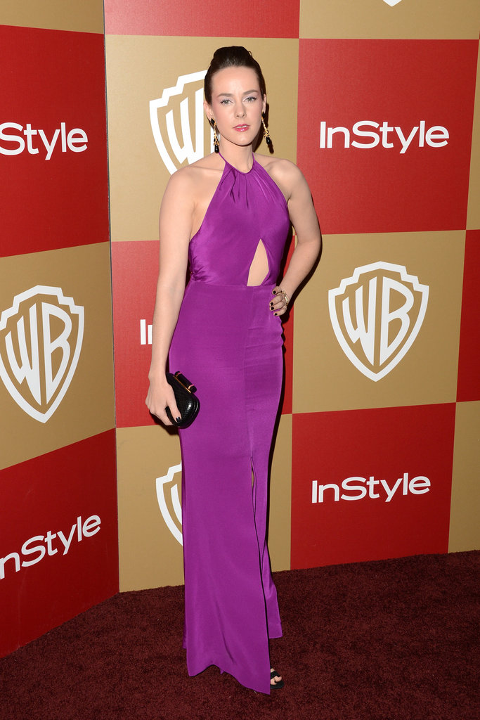 Jena Malone wore a purple gown to the InStyle bash.