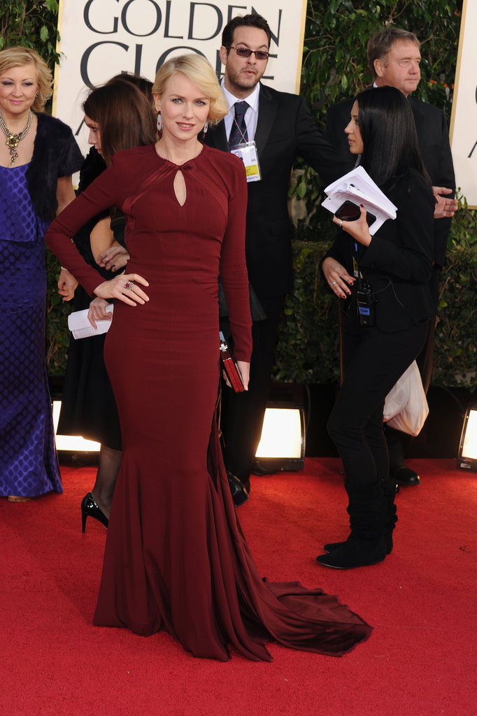 Naomi Watts decided on a Zac Posen dress.