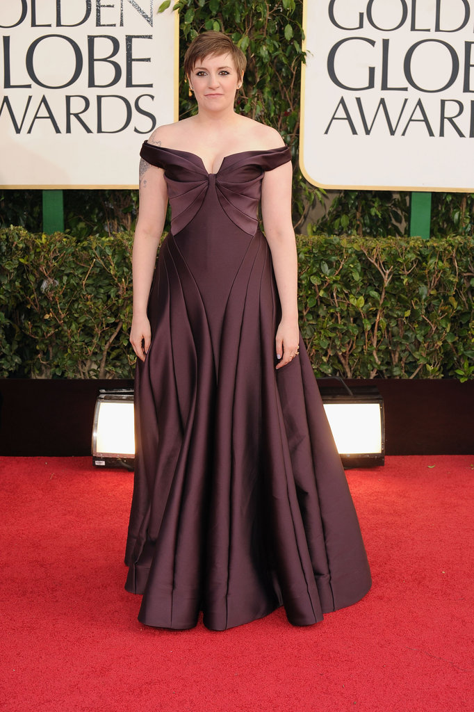 Lena Dunham Brings Elegance to the 2013 Golden Globes