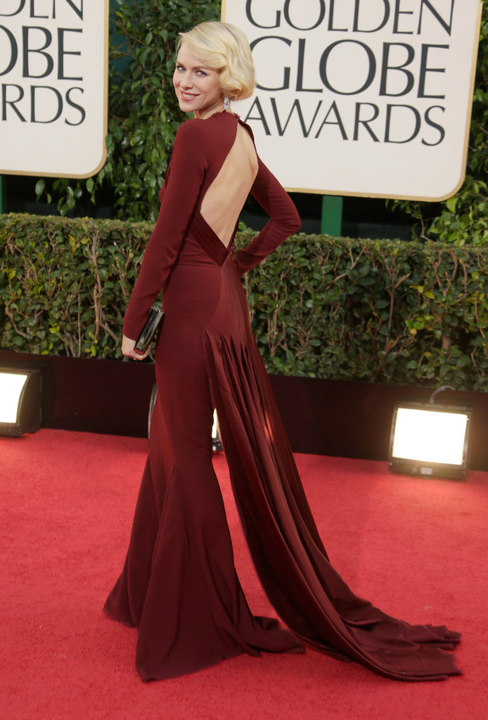 Naomi Watts on the red carpet at the 2013 Golden Globe Awards.