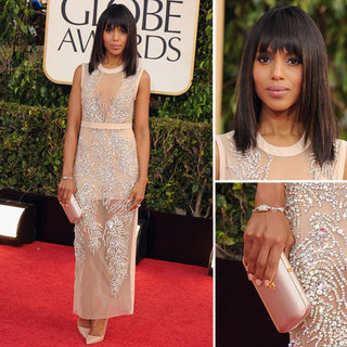 Kerry Washington | Golden Globes Red Carpet Fashion 2013