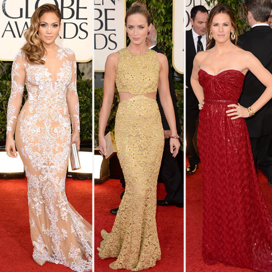 Eye-Catching Embellishments Amp Up the Golden Globes Red Carpet