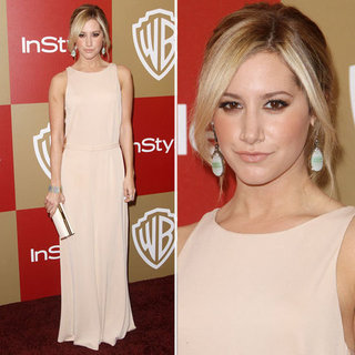 Ashely Tisdale at Golden Globes Party Fashion 2013