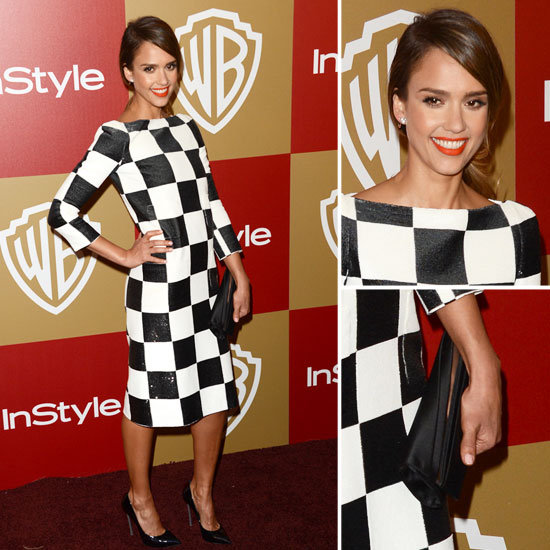 Jessica Alba Golden Globes Party Fashion 2013