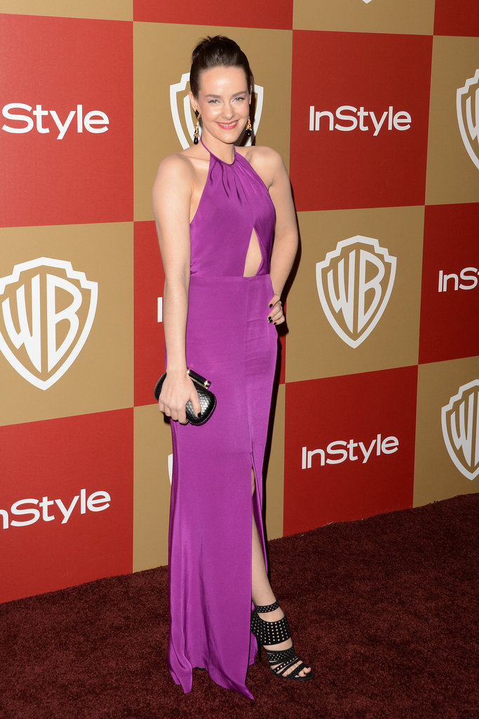 Jena Malone took on the color fuchsia — and some sexy cutouts — at the InStyle party.