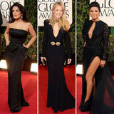 Golden Globes Black Dresses Trend 2013
