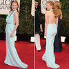 Jessica Chastain in Calvin Klein at the 2013 Golden Globes