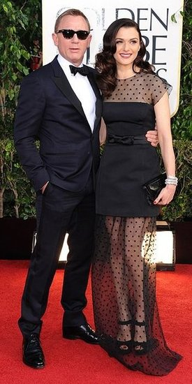 Daniel Craig and Rachel Weisz (2013 Golden Globes Awards)