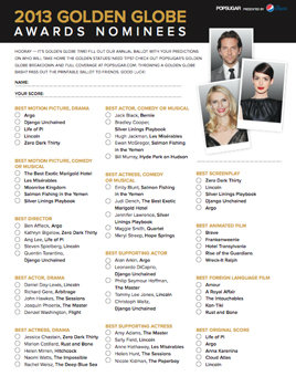 2015 Oscar Ballot Print on golden globes nominations printable