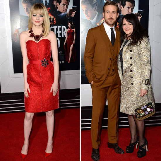 Emma Stone Joins Ryan Gosling and His Mom For Gangster Squad's Debut