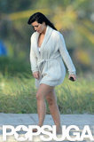 Kim Kardashian stepped out in Miami for a photo shoot.