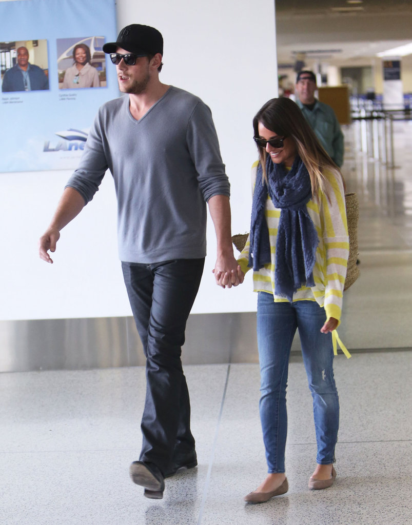 Lea Michele and Cory Monteith were all smiles at