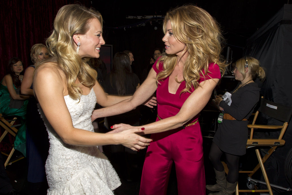 Kaley Cuoco and Faith Hill had a moment backstage in 2012.